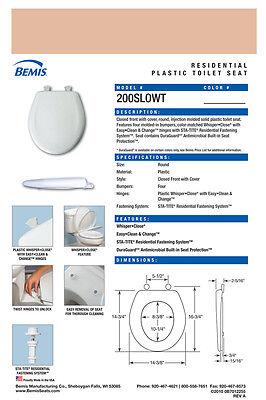 Bemis 200SLOWT-163 Around Plastic Slow Close Toilet Seat- BERMUDA CORAL