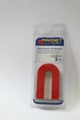 Qty 3 - Magnet Source 07225 3 Lb Horseshoe Magnet