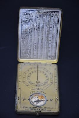 RARE! 1920s ANSONIA SUNWATCH / COMPASS, ANTIQUE BOY SCOUTS, ANSONIA CLOCK Co.NY.