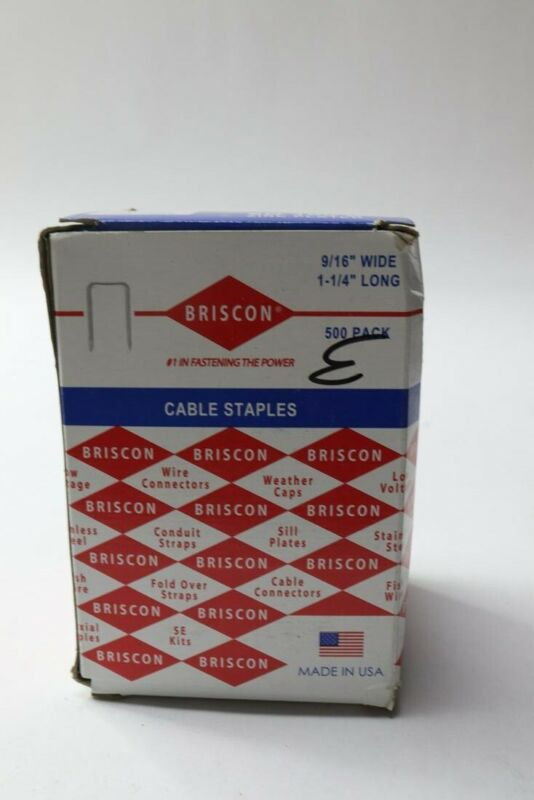 "1500 PACK - BRIS BX/ROMEX STAPLE, SN100-B-500 9/16"" X 1-1/4"""