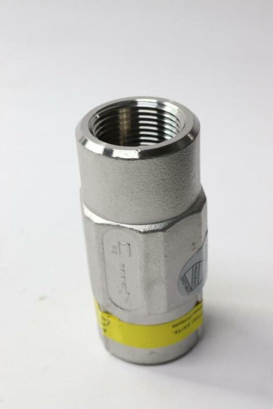 """Flomatic Valves 100SSVFD 1"""" Stainless Steel Threaded Check Valves"""