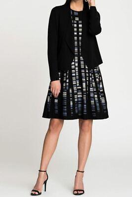 NIC + ZOE jacquard COVE SLEEVELESS FIT & FLARE KNIT DRESS 345$ NWT XS