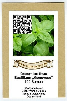 Basilikum Genovese - das Original (100+ Samen) (Genovese Basilikum Samen)