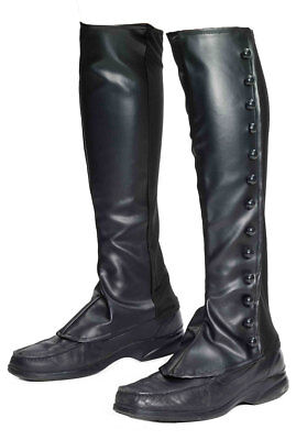 Forum Novelties Adult Black Steampunks Boot Spats Cover Pirate Costume Accessory