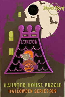 Hard Rock Cafe LONDON 2019 HALLOWEEN PIN Haunted House Puzzle - HRC