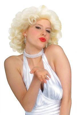 Marilyn Monroe Hollywood Starlet Filmstar Set Blonde Perücke - Hollywood Star Perücke