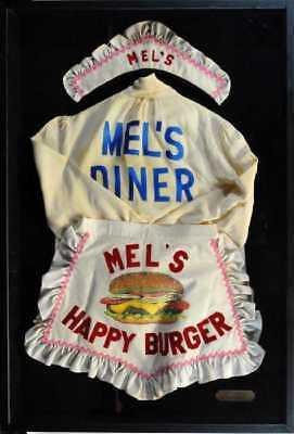 Mel's Diner Framed Apron & Bonnet Worn By Alice on the show From Joe Franklin