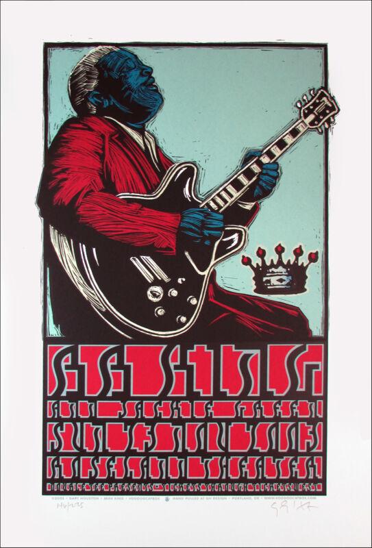 BB King Poster Jackie Green Original Signed Silkscreen by Gary Houston