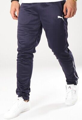 PUMA mens track pants trousers bottoms joggers S M L XL navy blue slim fit