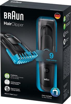 Braun HC5010 Haarschneider 9 Längen Sicherheitsklingen Vollständig abwaschbar
