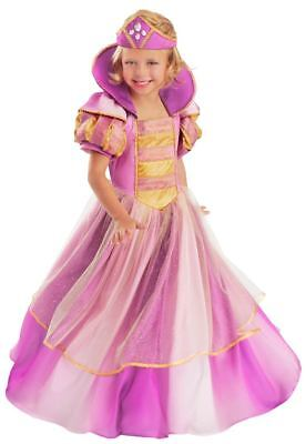 Children's Princess Amanda Costume - Queen Royalty Cinderella Dress - Med (7-8)