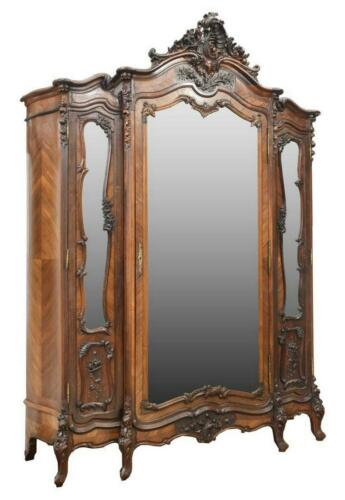 Armoire, French Louis XV Style Rosewood, 19th C., 1800s, Outanding Antique!