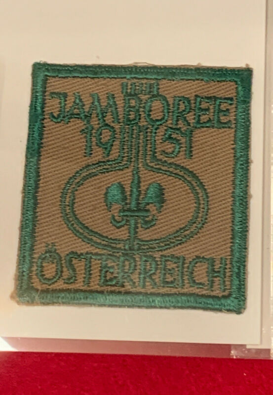 1951 World Jamboree Austria Rare Delegate Patch Given to US Leaders Afterward