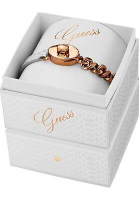 Guess ubs11404-s pulsera oro rosa y piel color blanco mujer mejorofertarelojes
