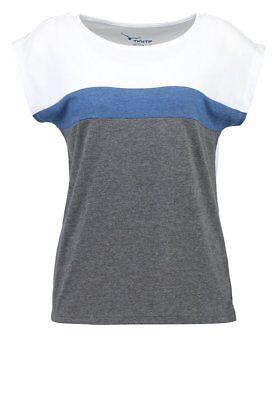 Twin Tip Print T Shirt Size L White/Blue/Grey LF085 DD 17
