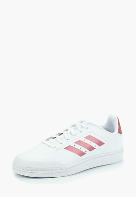 White Court (Adidas Court 70s White Pink B96215 Casual Womens Trainers Size UK 6)