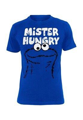 t Men - MISTER HUNGRY - Blue (Mens Sesame Street Shirt)