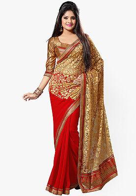 Bollywood Indian Wedding Ethnic Designer Wedding Saree Sari w Blouse SAREE EDH