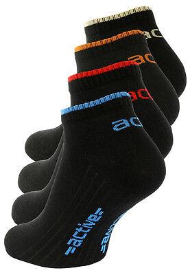 8 Paar Herren Sneaker Socken, schwarz, gekämmte Baumwolle, Vincent Creation®