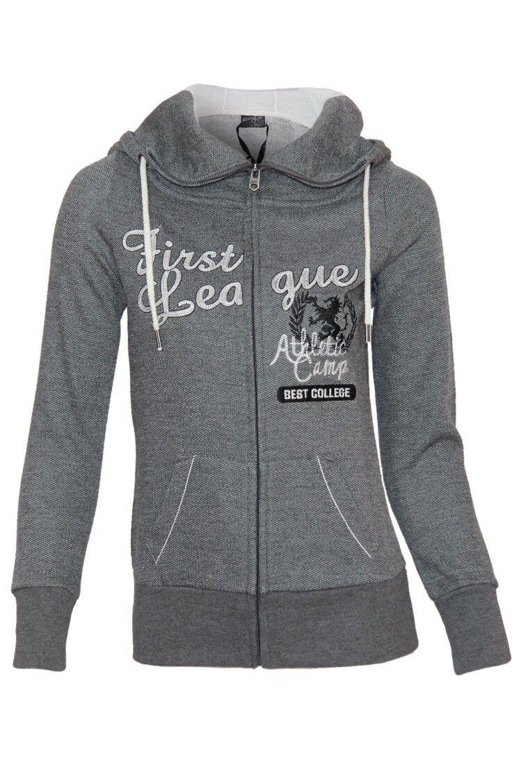 Urban Surface Damen Sweatshirt | Kapuze Reißverschluss Freizeit Seitentaschen
