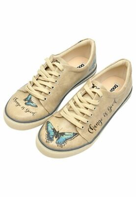 Dogo Shoes Vegan Leather Change is Good - Butterfly Women's Sneakers Butterfly Sneakers Shoes