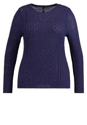 Ex Evans Navy Blue Knitted Christmas Jumper Size 26 28 (EVW2)