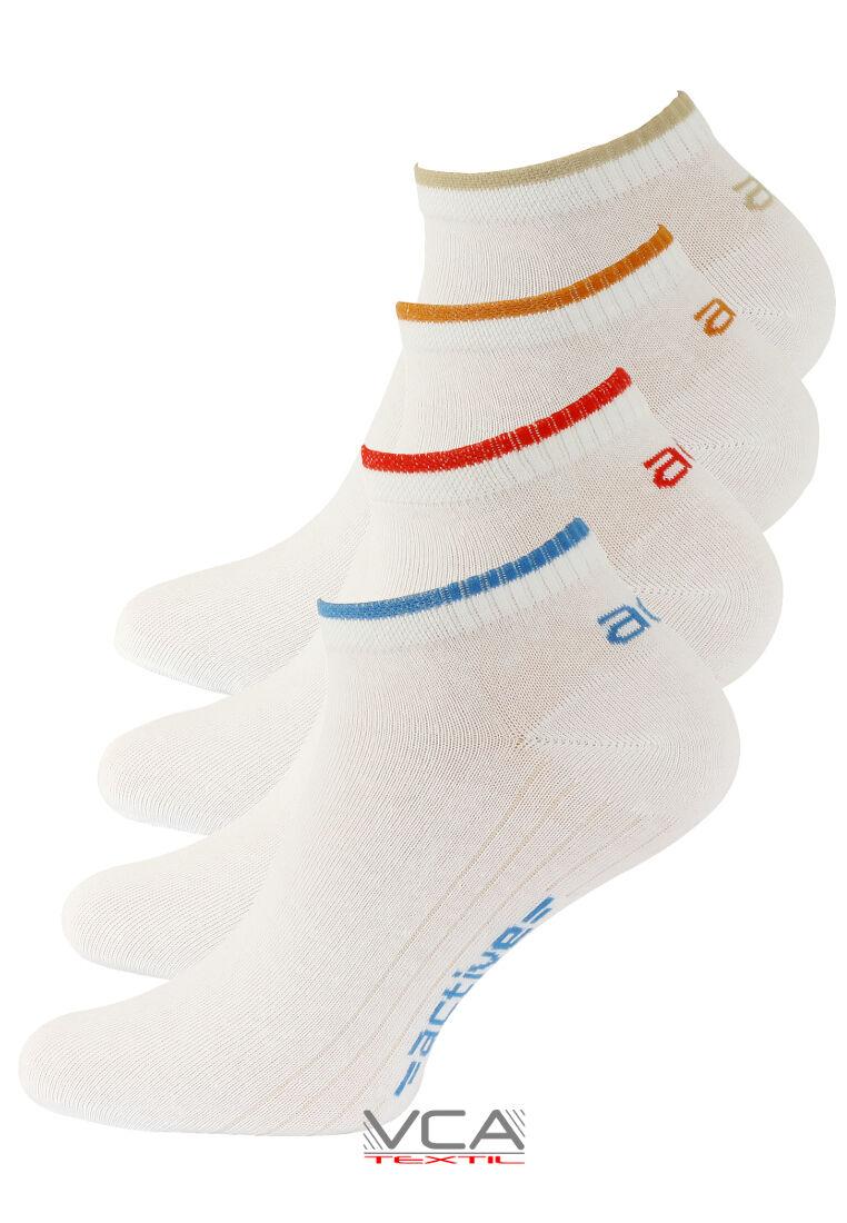 8 Paar Herren Sport Sneaker Socken, Kurzsocken weiß,Baumwolle,Vincent Creation®
