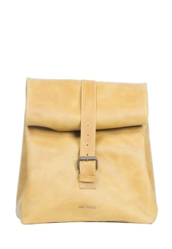 Perfect Genuine Leather Lunch Bag  With Roll Top for Women G