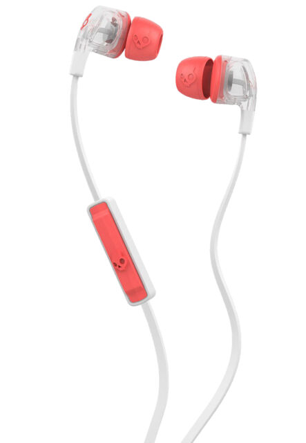 SkullCandy Dime Fine Tuned In-Ear Headphones Mic1+ Remote Mash Up/Clear/Coral