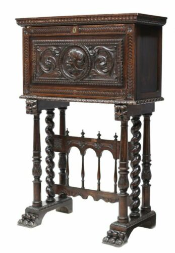 CHARMING SPANISH RENAISSANCE REVIVAL VARGUENO DESK, 19th century ( 1800s )!!!