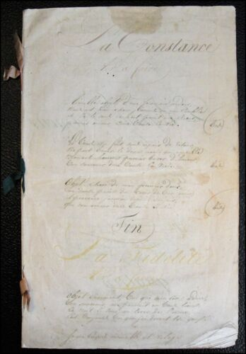 1820 French Song Manuscript!
