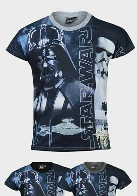 Star Wars Character Design Boys Printed T-Shirt Black/Grey/Platinum 6yrs-12yrs