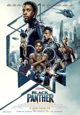 Black Panther - original DS movie poster - D/S 27x40 FINAL - Marvel INTL B