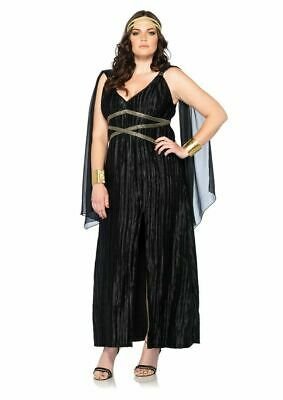 LEG AVENUE DARK GODDESS WOMEN'S PLUS SIZE 1X/2X COSTUME #85180X BRAND NEW