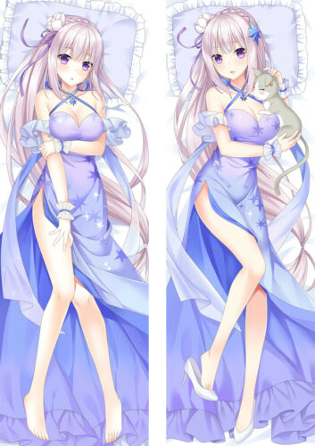 Zero Starting Life in Another World Emilia Dakimakura Body Pillow Case 150x50 59