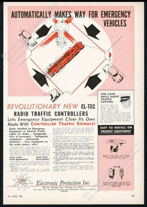 1955 El-Tec traffic signal fire engine radio controller vintage trade print ad