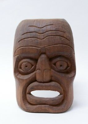Makah Mask by DKE IIII, Cedar - Mid to Late 20th Century