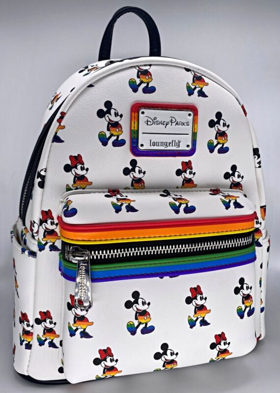 Disney Parks Loungefly Mickey Minnie Mouse Pride Love Rainbow Mini Backpack 2021