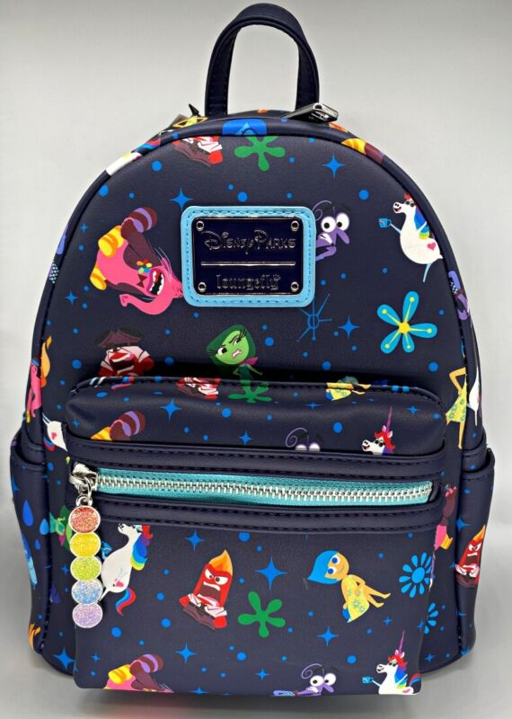 Disney Parks Loungefly Inside Out Pixar Mini Backpack Joy Sadness Anger - NEW