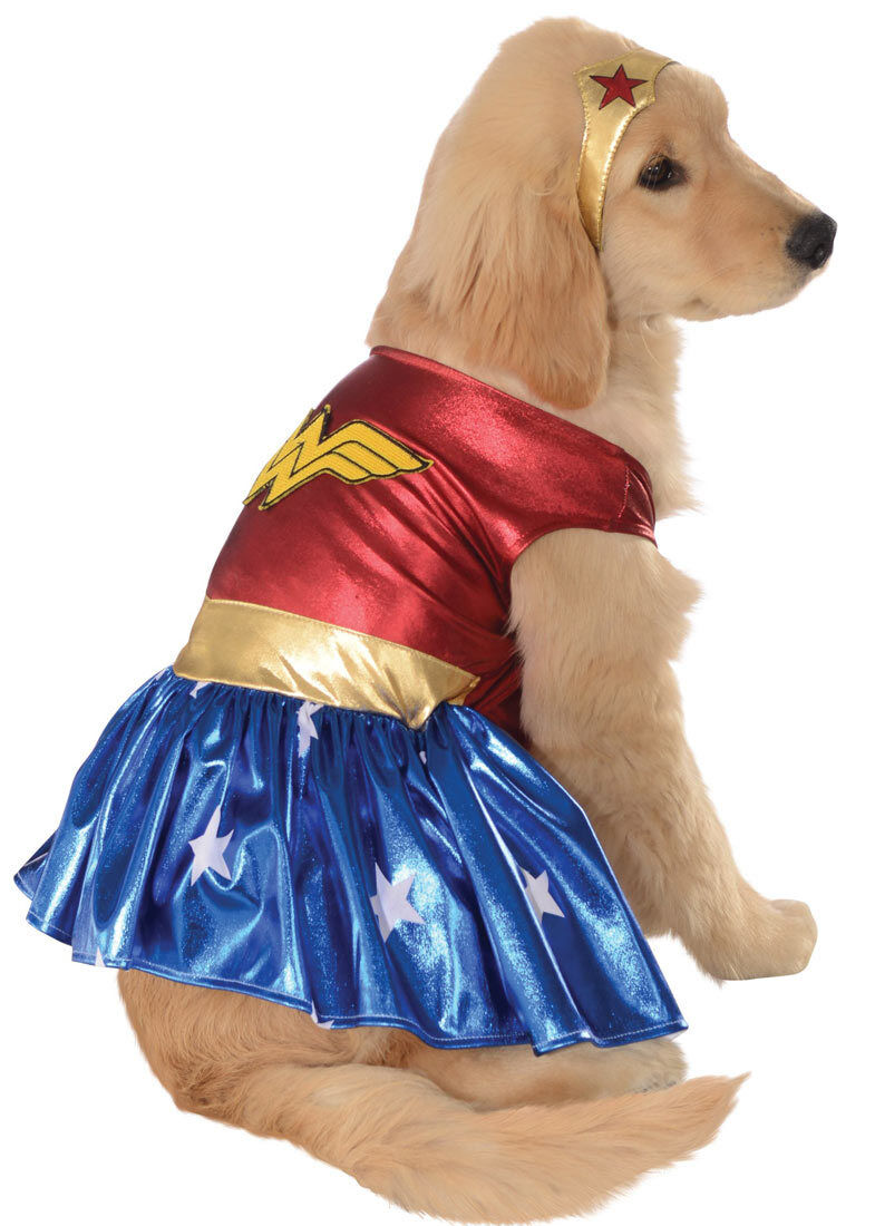 Pet Dog Cat Wonder Woman Superhero Halloween Clothing Fancy Dress Costume Outfit 2