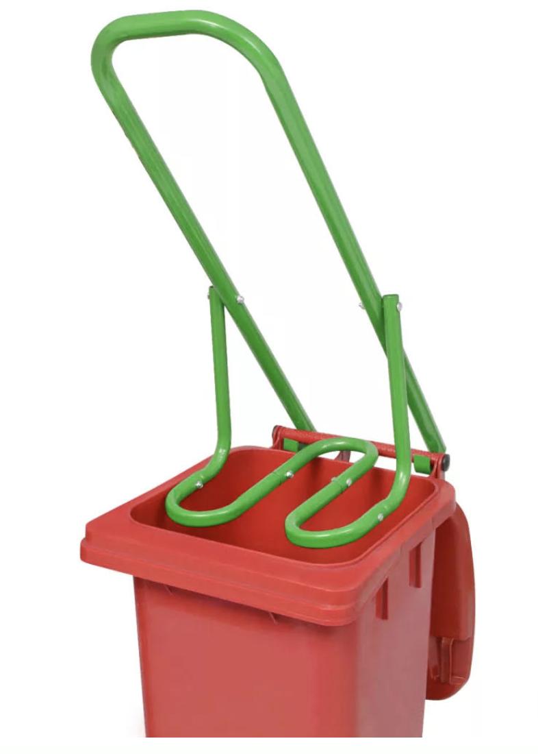 Manual Trash Compactor Waste bin compressor. Heavy duty meta