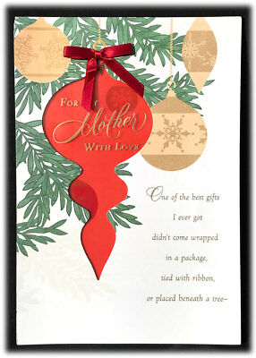 Vintage Hallmark For My Mother Merry Christmas Ornaments Best Gifts Card