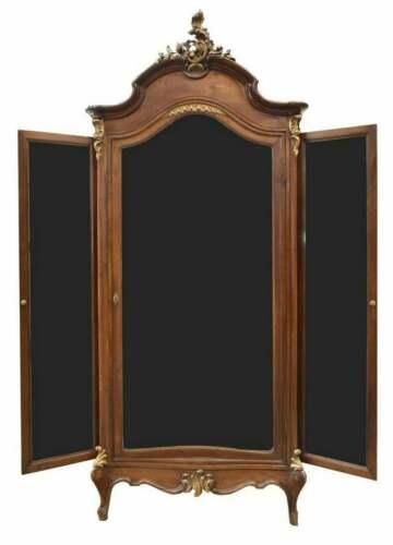 Armoire, Mirrored, Italian Louis XV Style, Walnut Early 1900s, Gorgeous Armoire