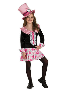 Mad Hatter Tea Party Alice Wonderland Halloween Costume Girls Kids Child Small](Mad Hatter Halloween Costume For Girls)