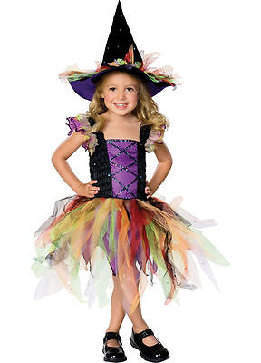 Toddler Child Glitter Witch Costume (Child Glitter Witch)