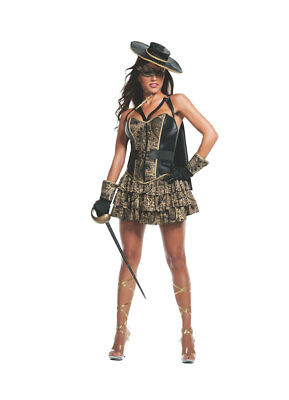 Adult Women's Zorro Costume by Starline Size MEDIUM (with defect) - Zorro Costume Women