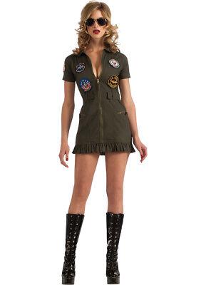 Adult Female Top Gun Flight Dress Costume Rubies Size Small - Female Top Gun Costume