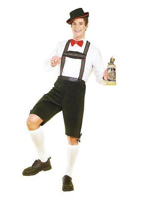 Hänsel Yodler Deutsches Oktoberfest Lederhosen Bayrisch Herren Halloween Kostüm ()