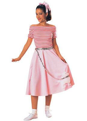 Adult Nifty Fifties Costume Sock Hop Poodle Skirt Outfit Adult Size Standard