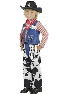 Boys Rodeo Cowboy Costume Childs Halloween Cow Boy Western Kids Small 4-6 NEW